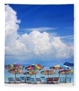 Tropical Holiday Destination Fleece Blanket