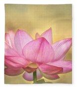 Tropical Lotus Flower Fleece Blanket