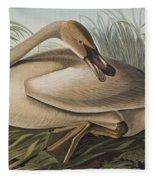 Trumpeter Swan Fleece Blanket