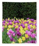 Tulip Flowers In A Garden, Chicago Fleece Blanket