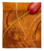 Tulips Are People Xi Fleece Blanket