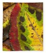 Turning Leaves Fleece Blanket