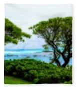 Turtle Bay View Fleece Blanket