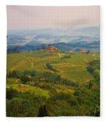 Tuscan Landscape Fleece Blanket