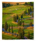 Tuscan Road Fleece Blanket