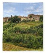 Tuscany - Castelnuovo Dell'abate Fleece Blanket