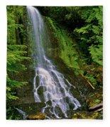Twin Falls Creek Mount Rainier Fleece Blanket