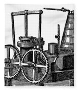 Twin-screw Steamer, 1878 Fleece Blanket