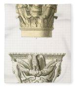 Two Column Capitals Fleece Blanket