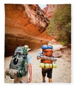 Two Friends Hiking Through The Grand Fleece Blanket