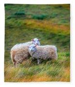 Two Sheep Fleece Blanket