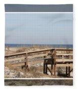 Tybee Island Boardwalks Fleece Blanket