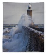 Tynemouth Pier Fleece Blanket