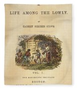 Uncle Tom's Cabin, 1852 Fleece Blanket
