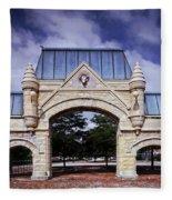 Union Stock Yard Gate - Chicago Fleece Blanket
