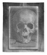 Untitled Skull Fleece Blanket