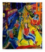 Urban Street People Fleece Blanket