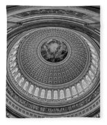 Us Capitol Rotunda Fleece Blanket