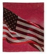Us Flag Fleece Blanket