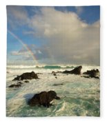 Usa, Hawaii, Rainbow Offshore Fleece Blanket