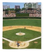 Usa, Illinois, Chicago, Cubs, Baseball Fleece Blanket