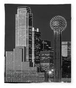 Usa, Texas, Dallas, Panoramic View Fleece Blanket