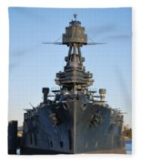 Uss Texas Bow Fleece Blanket