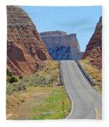 Utah Highway Fleece Blanket