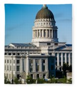 Utah State Capitol Building, Salt Lake Fleece Blanket
