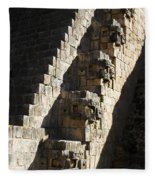 Uxmal Maya Ruins Fleece Blanket