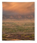 Valley Sunset Fleece Blanket
