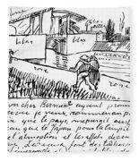 Van Gogh Letter, 1888 Fleece Blanket