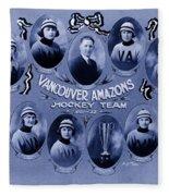 Vancouver Amazons Women's Hockey Team 1921 Fleece Blanket