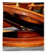 Vancouver Bc Classic Boats Fleece Blanket