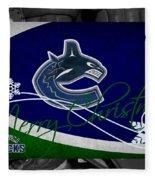 Vancouver Canucks Christmas Fleece Blanket