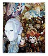 Venetian Masks 2 Fleece Blanket