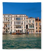 Venice Grand Canal View Italy Fleece Blanket