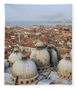 Terracotta Skyline Venice Italy Fleece Blanket