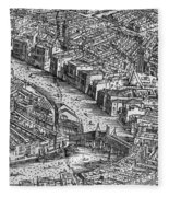 Venice: Rialto Bridge Fleece Blanket