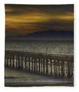 Ventura Pier Fleece Blanket