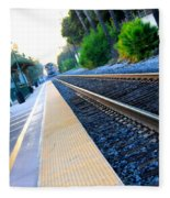 Ventura Train Station Fleece Blanket
