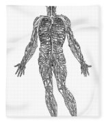 Vesalius: Venous System Fleece Blanket