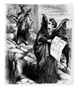 Victoria Claflin Woodhull (1838-1927) Fleece Blanket
