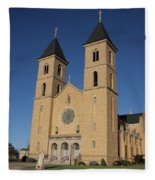 Victoria Kansas - Cathedral Of The Plains Fleece Blanket