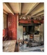 Victorian Cottage Fleece Blanket
