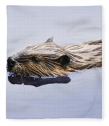 View Of Beaver, Chaudiere-appalaches Fleece Blanket