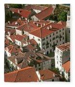 View Of Kotor Town In Montenegro Fleece Blanket