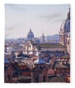 View Of Rome 2013 Fleece Blanket