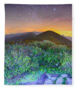 View Of The Appalachians From Craggy Pinnacle Near The Blue Ridg Fleece Blanket