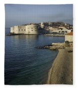 Views Of Dubrovnik Old Town Croatia Fleece Blanket